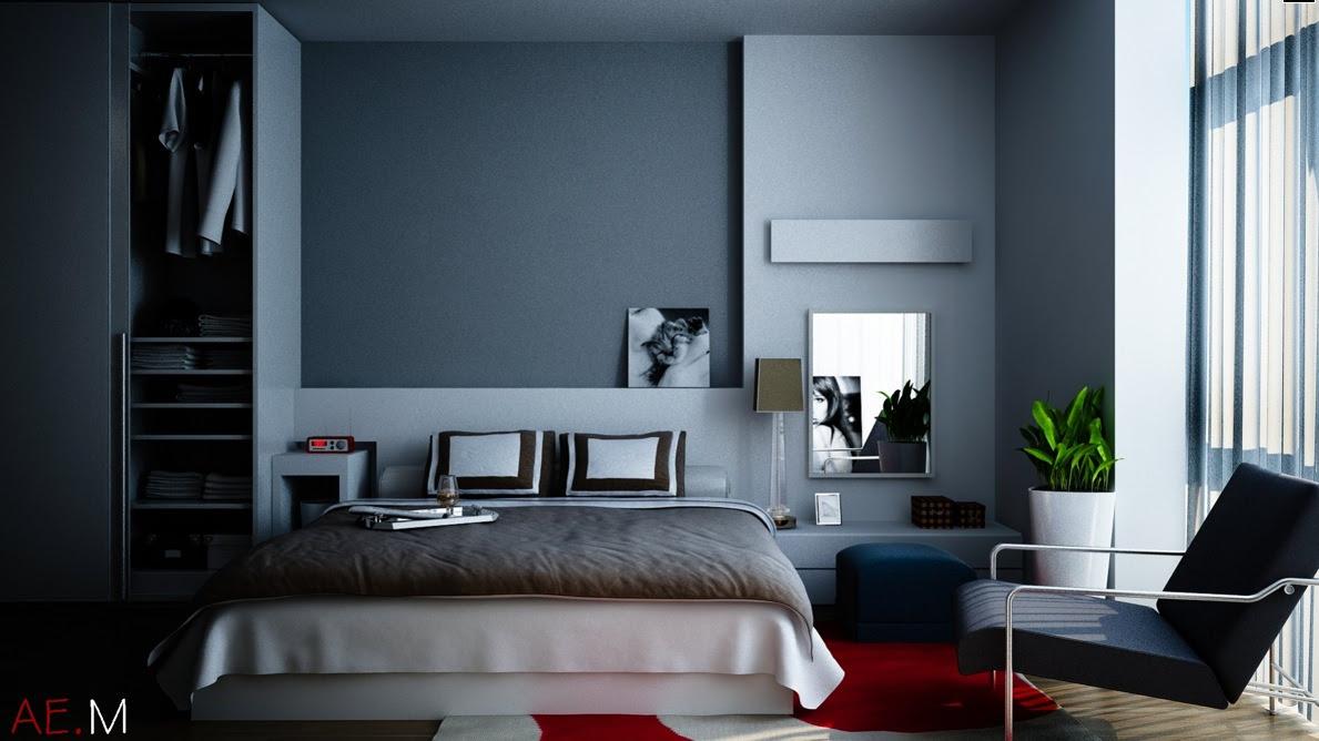 Bedroom Design Dark Blue