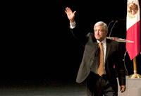 El virtual candidato  de las fuerzas de izquierda a la Presidencia, Andrés Manuel López  Obrador. Foto: Germán Canseco