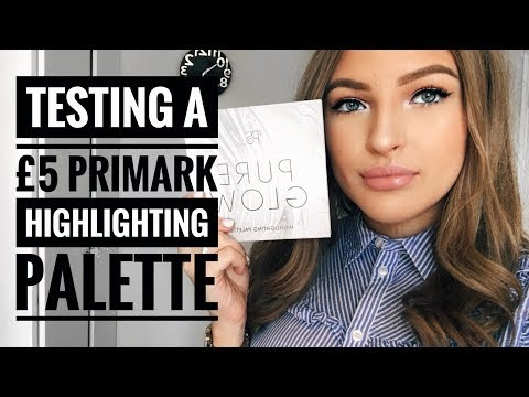 Testing A £5 Primark Highlighting Palette