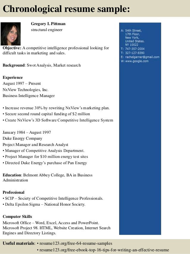 top 8 structural engineer resume samples 3 638