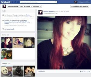 Brianna Benlolo em foto publicada em seu perfil no Twitter em 5 de dezembro de 2013 (Foto: Reprodução/Facebook/Brianna Benlolo )