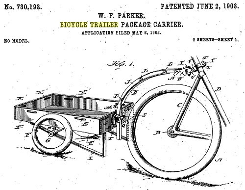 Bicycle Trailer Patent (1903)