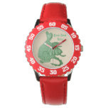 cute dragon mythical and fantasy creature art wristwatch