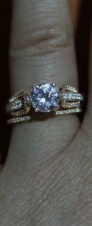 How to Mix and Match Engagement Rings with Wedding Bands