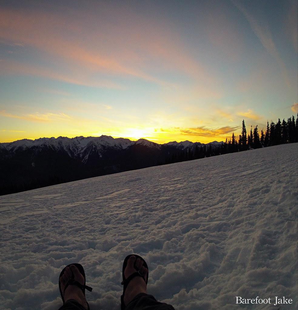 Luna sandals sunset