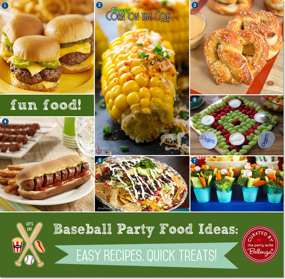 Easy Baseball Party Food Ideas Quick Recipes Treats
