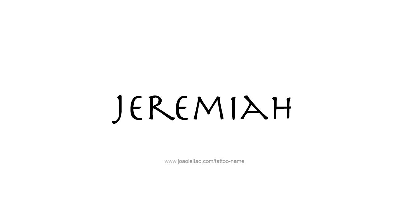 Jeremiah Prophecy Tattoos