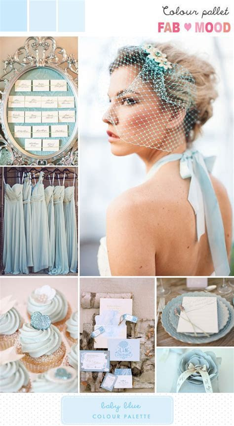 Baby Blue Inspiration Board 1   Fab Mood   Wedding Colours