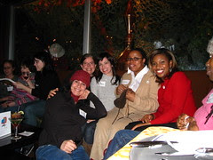 Sit N Knit NYC logo party