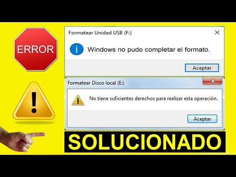 Windows No Pudo Completar El Formato Solución