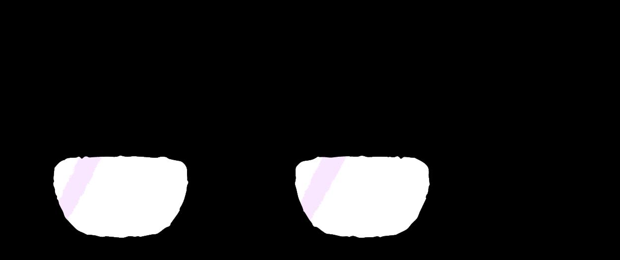メガネのフレームイラスト黒ぶち かわいい無料イラスト素材