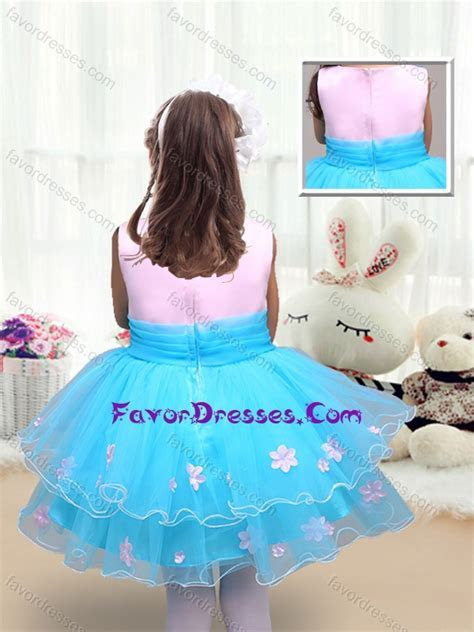 2016 Cute Scoop Short Little Girl Pageant Dresses with