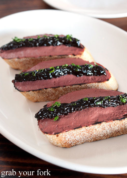 chicken liver toast at animal restaurant los angeles by jon shook and vinny dotolo