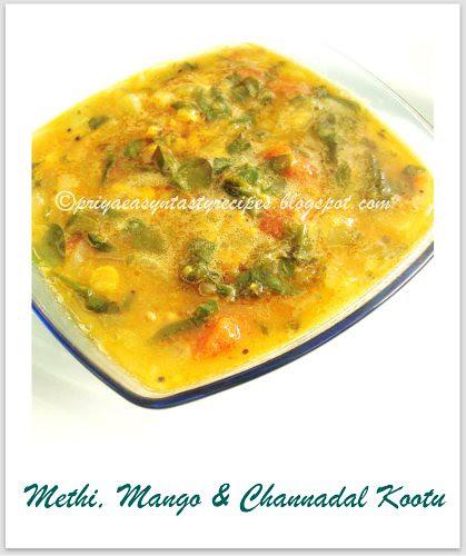 Methi,mango & channadal kootu