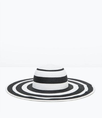 Zara Two-Tone Wide Brim Hat