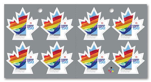 Today I used the Canada Marriage Equality Stamp