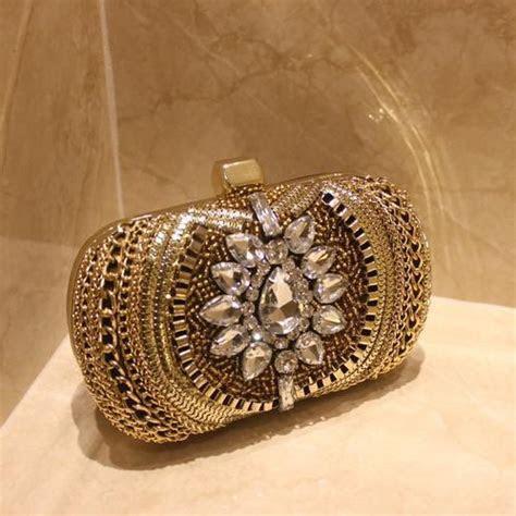 Luxury Vintage Crystal Bridal Hand Bags Evening Clutch Bag