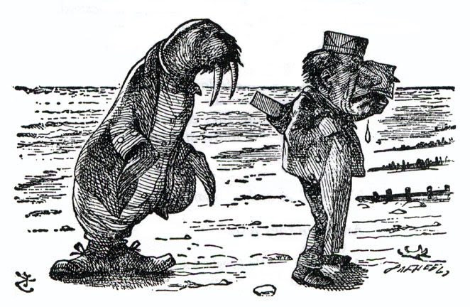 The poem on the Walrus and the Carpenter