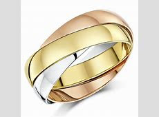 9ct Russian Wedding Ring Multi Tone 3 Colour Gold Band Three Colour 2mm 3mm 4mm   eBay