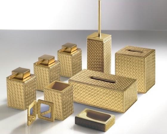 Marrakech Gold Bathroom Accessories Contemporary