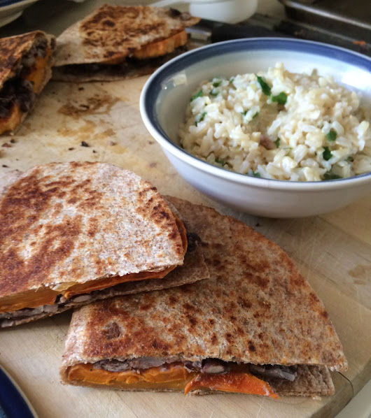 Quesadillas made with Lime Roasted Sweet Potatoes