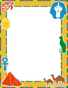 An African-safari themed page border. Free downloads at http ...