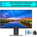 """Dell P2319H 23"""" 16:9 Ultrathin Bezel IPS LCD Computer Monitor (1-Pack) Best Value Bundle with LCD Screen Cleaning Kit for Home Office"""