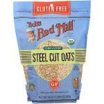 Bob's Red Mill Oats, Organic, Gluten Free, Steel Cut - 24 oz - Pack of 4