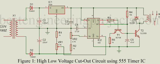 High Low Voltage Cutout Circuit - Best Engineering Projects