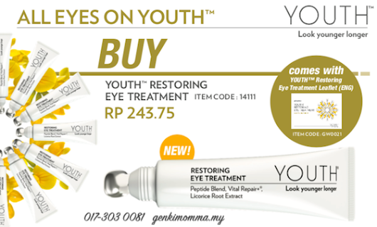 Cara Pakai Krim Penjagaan Mata Youth Restoring Eye Treatment