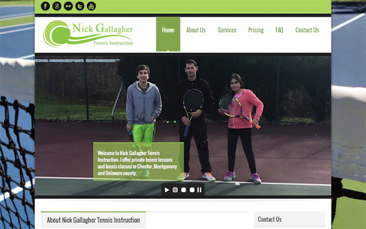 Nick Gallagher Tennis Instruction - Internet Solutions For Less