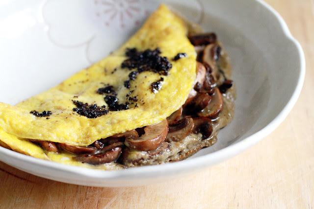 Mushroom Omelette with Black Truffle