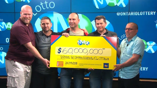 Group of friends win $60M Lotto Max jackpot