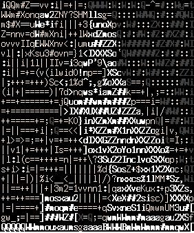 josef holecek in ASCII art version 1