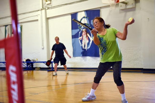 Pickleball in West Roxbury