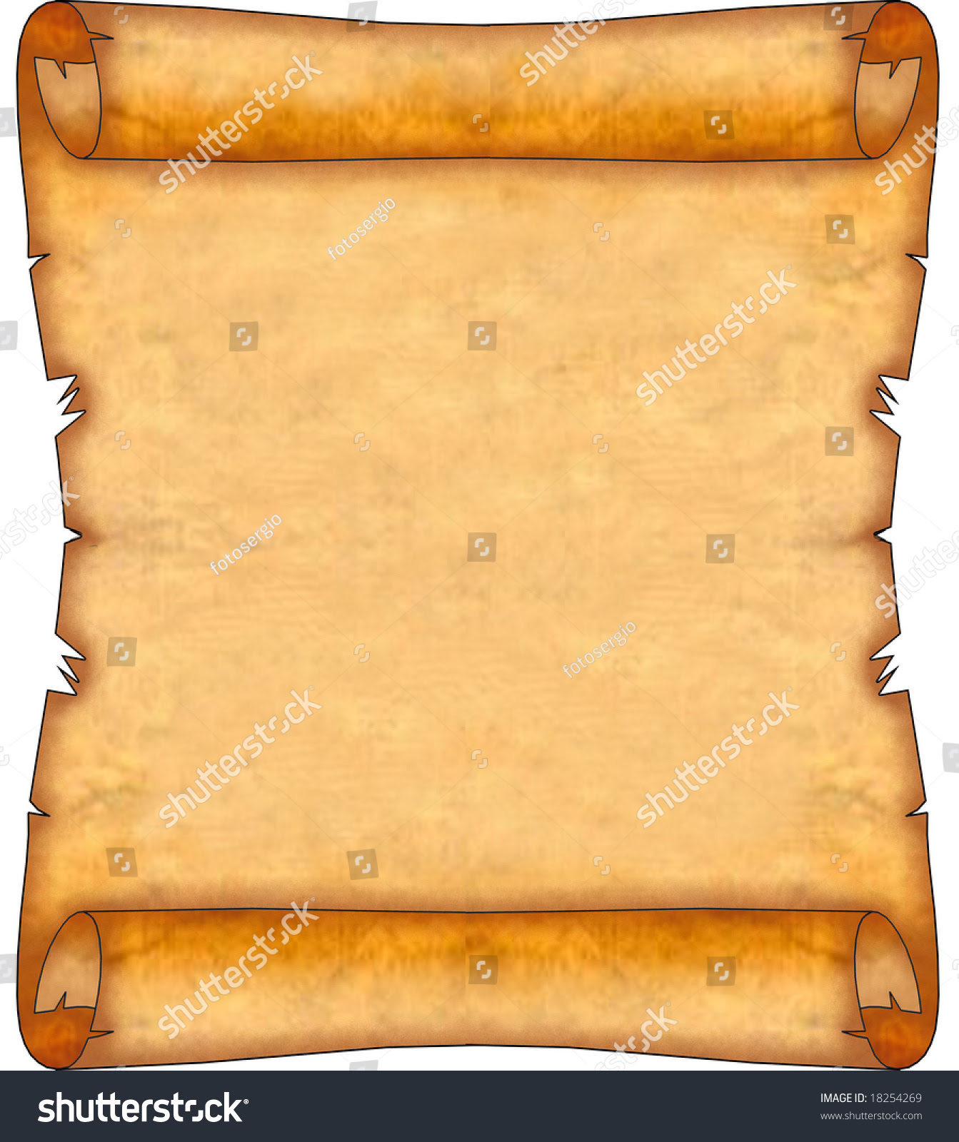 Blank Ancient Scroll 08 Stock Illustration 18254269 - Shutterstock
