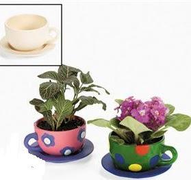 Design Your Own Ceramic Tea Cup Planters Great For Tu Bshvat