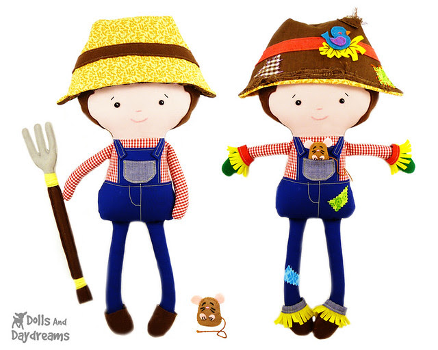 Farmer Scarecrow sewing pattern