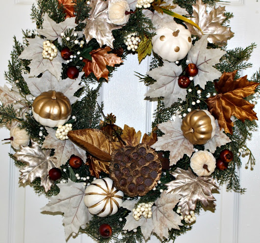 Thrift Store Wreath Gets A Pretty Makeover For Fall