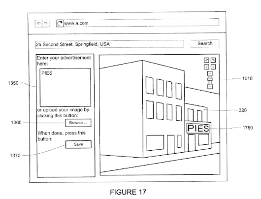 "Antonio Regalado on Twitter: ""Alphabet/Google files patent on system to let businesses pay for virtual billboards inside of Street View. """