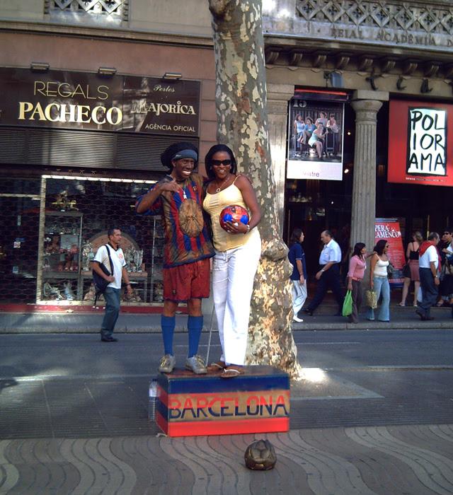 Ronaldinho Gaucho in Las-Ramblas, Barcelona