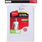 Hanes Big Men's Crew Tee Shirts, White - 5 pack