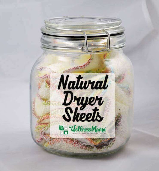 How to Make Natural Dryer Sheets | Wellness Mama
