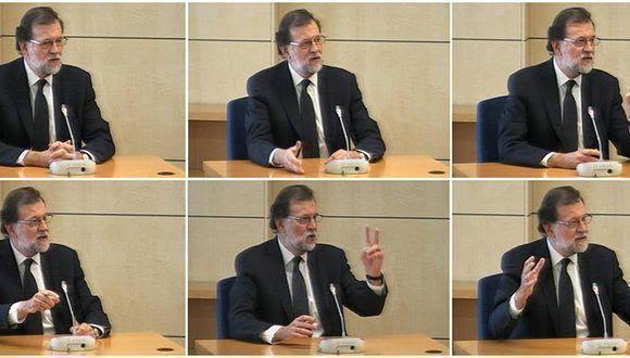 Mariano Rajoy compareció ante la justicia por los casos de corrupción en su partido. Foto: EFE.