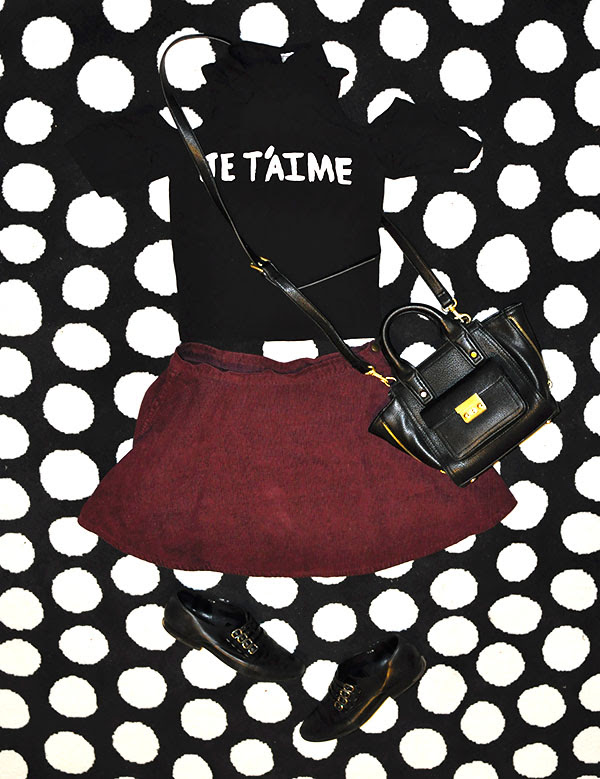 urban outfitters, street style, crop top, je t'aime, french