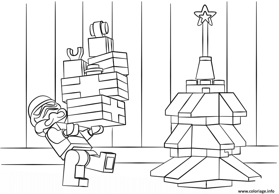 Coloriage Lego Star Wars Clone Christmas Dessin   Imprimer