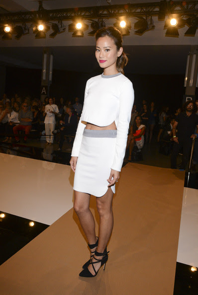 Jamie Chung - Edun - Front Row - Mercedes-Benz Fashion Week Spring 2015