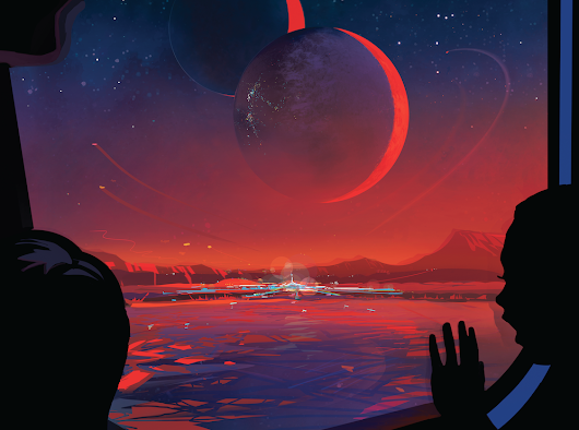 Nasa creates beautiful posters advertising life in new solar system