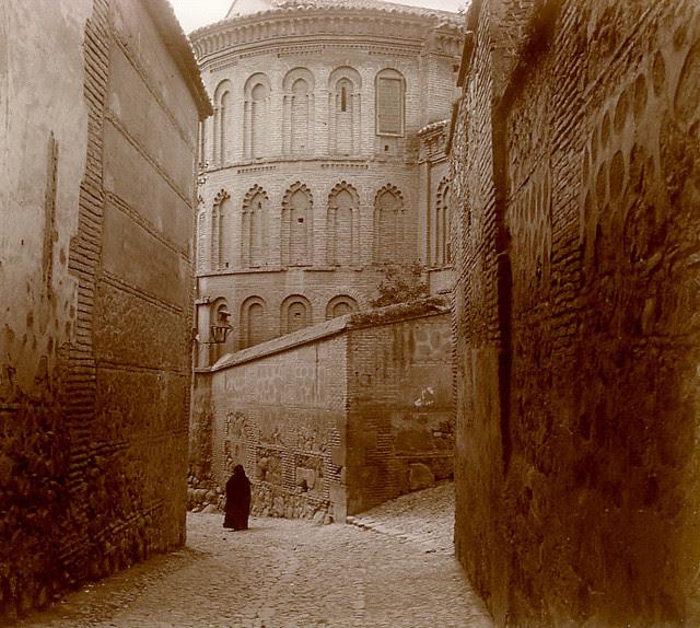 Ábside de la Iglesia de san Bartolomé en 1913. Fotografía de Luis Calandre Ibáñez