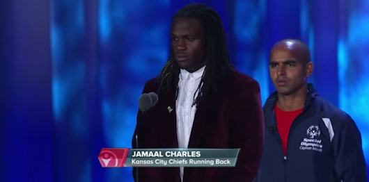 Jamaal's speech at the Special Olympics